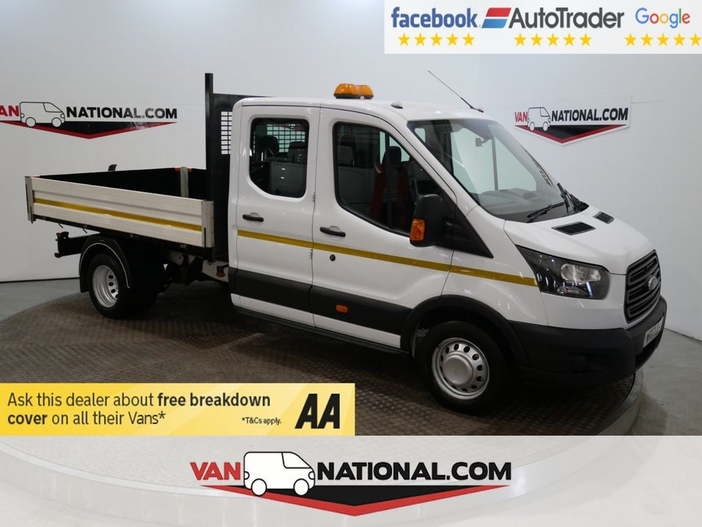 USED 2017 17 FORD TRANSIT 2.0 350 L3 DCB DRW 130 BHP LWB CREWCAB TIPPER  *EURO 6* DOUBLE CAB * ONE OWNER * EURO 6 * LWB * ZERO DEPOSIT FINANCE AVAILABLE *