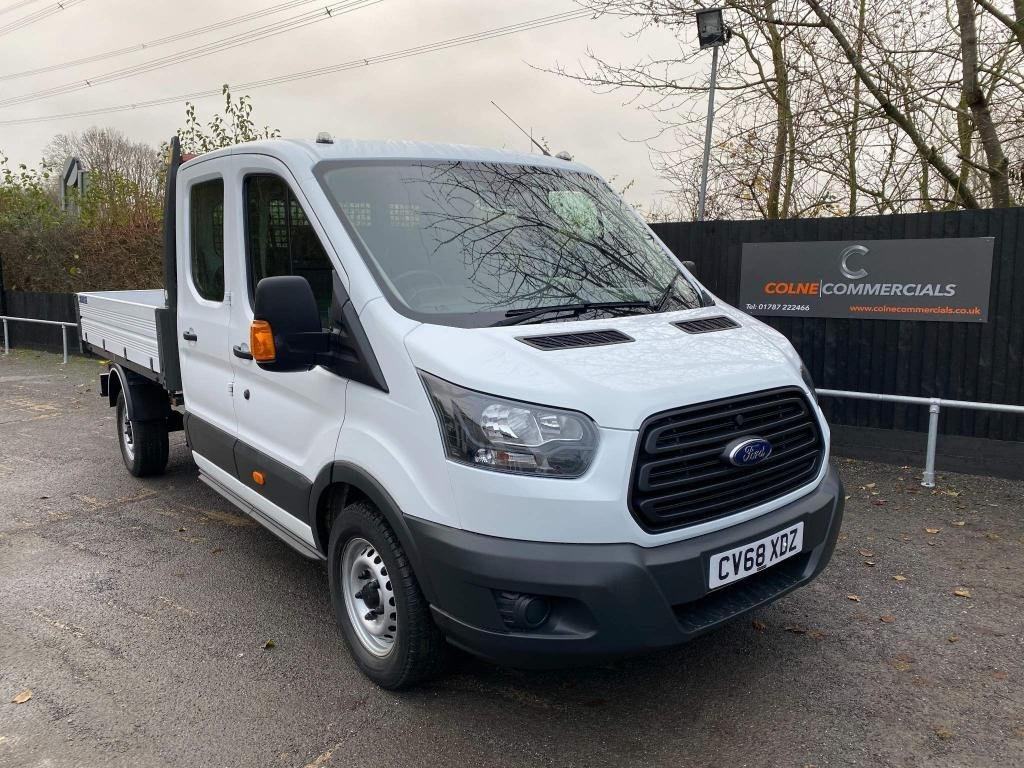USED 2018 68 FORD TRANSIT 2.0 350 EcoBlue 1-Way Double Cab Tipper RWD L3 EU6 4dr (1-Stop) *EURO 6*FORD WARRANTY*7 SEATS*