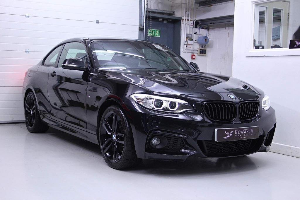 USED 2017 17 BMW 2 SERIES 2.0 220d M Sport Auto (s/s) 2dr Full Black Leather | 1 Owner