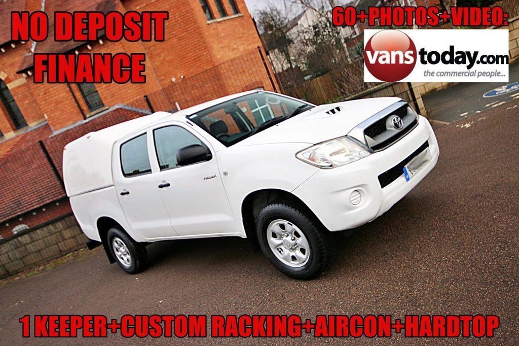 USED 2011 11 TOYOTA HI-LUX 2.5 HL2 4X4 D-4D DOUBLE CAB 142 BHP + HARDTOP 1 KEEPER + HARDTOP + LOW MILES + NO DEPOSIT FINANCE