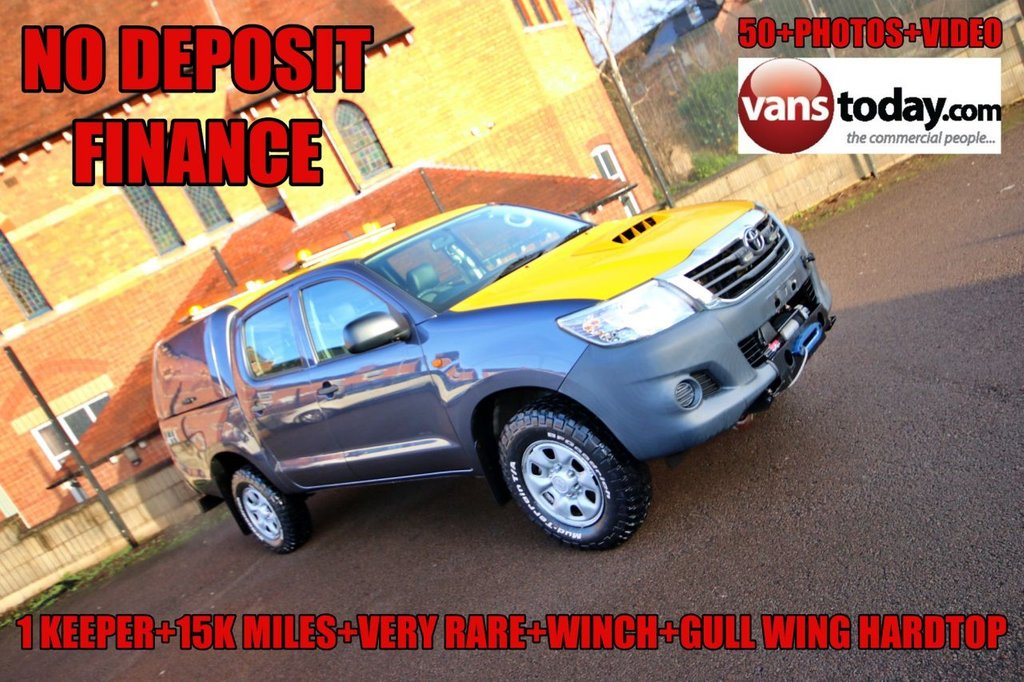 USED 2014 TOYOTA HILUX 2.5 D-4D 144 ACTIVE 4WD DOUBLE CAB PICK UP + ULTRA LOW MILES + HARDTOP + WINCH NO DEPOSIT FINANCE + ULTRA LOW MILES + HARDTOP + WINCH