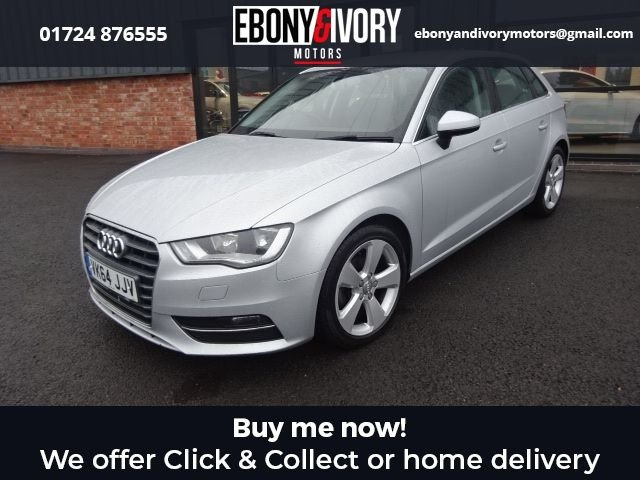 USED 2014 64 AUDI A3 1.6 TDI SPORT 5d 104 BHP+ACOUSTIC PARKING REAR+CRUISE CONTROL+COMFORT PACKAGE  + FULL SERVICE HISTORY + 1 YEAR MOT AND BREAKDOWN COVER