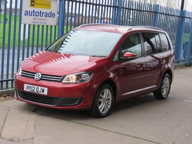 USED 2012 12 VOLKSWAGEN TOURAN 1.6 SE TDI 5dr 106 7 Seater Bluetooth Cruise Privacy Alloys Roof rails Finance arranged Part exchange available Open 7 days