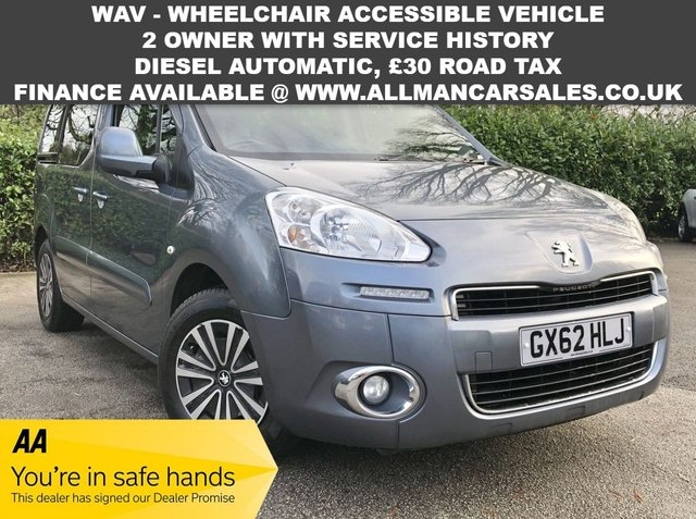 USED 2013 62 PEUGEOT PARTNER 1.6 E-HDI TEPEE S 5d 92 BHP WAV - Wheelchair accessible vehicle