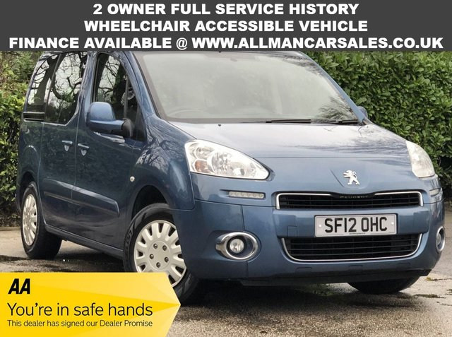 USED 2012 12 PEUGEOT PARTNER 1.6 TEPEE S HDI 5d 92 BHP WAV - Wheelchair accessible vehicle
