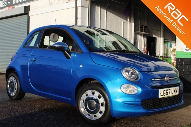 USED 2017 67 FIAT 500 1.2 MIRROR DUALOGIC 3d 69 BHP VIEW AND RESERVE ONLINE OR CALL 01527-853940 FOR MORE INFO.