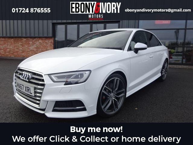 USED 2017 67 AUDI A3 2.0 S3 QUATTRO 4d 306 BHP+SATNAV+1 OWNER FROM NEW EXCELLENT EXAMPLE+FULLY SERVICED+1 YEAR MOT+BREAKDOWN COVER