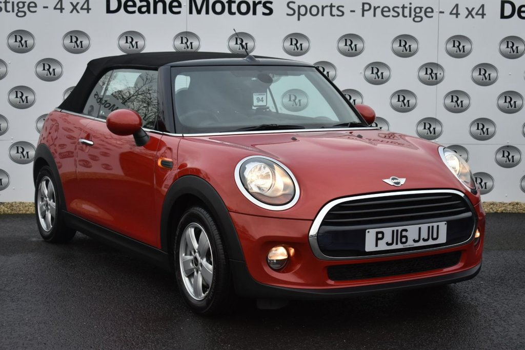 USED 2016 16 MINI CONVERTIBLE 1.5 COOPER 2d 134 BHP VALUE