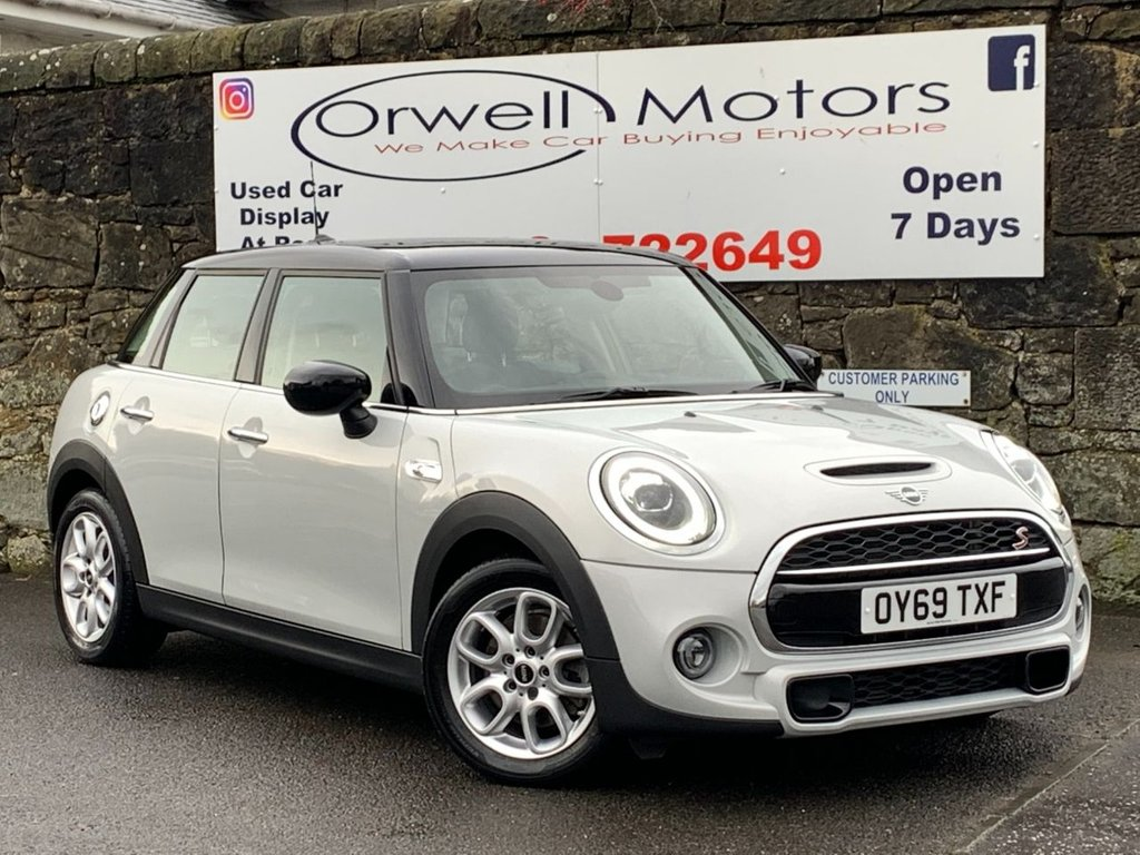 USED 2019 69 MINI HATCH COOPER 2.0 COOPER S CLASSIC 5d 190 BHP BALANCE OF MANUFACTURERS WARRANTY+1 OWNER+CRUISE CONTROL+LED HEADLIGHTS