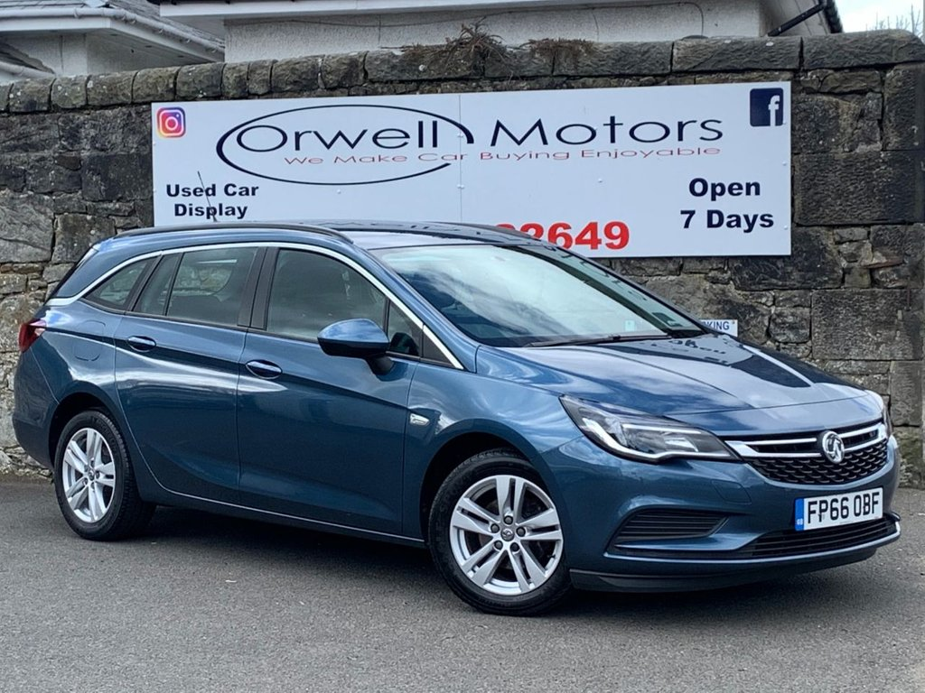 USED 2016 66 VAUXHALL ASTRA 1.6 DESIGN CDTI ECOFLEX S/S 5d 108 BHP APPLE CAR PLAY+CRUISE CONTROL WITH SPEED LIMITER+FULL VAUXHALL SERVICE HISTORY