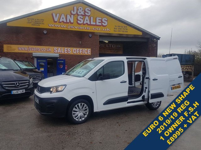 USED 2019 19 PEUGEOT PARTNER BLUEHDI PROFESSIONAL A/C NAV 3 SEATER  EURO 6  OVER 100 MORE VANS EURO 6 MODELS IN STOCK