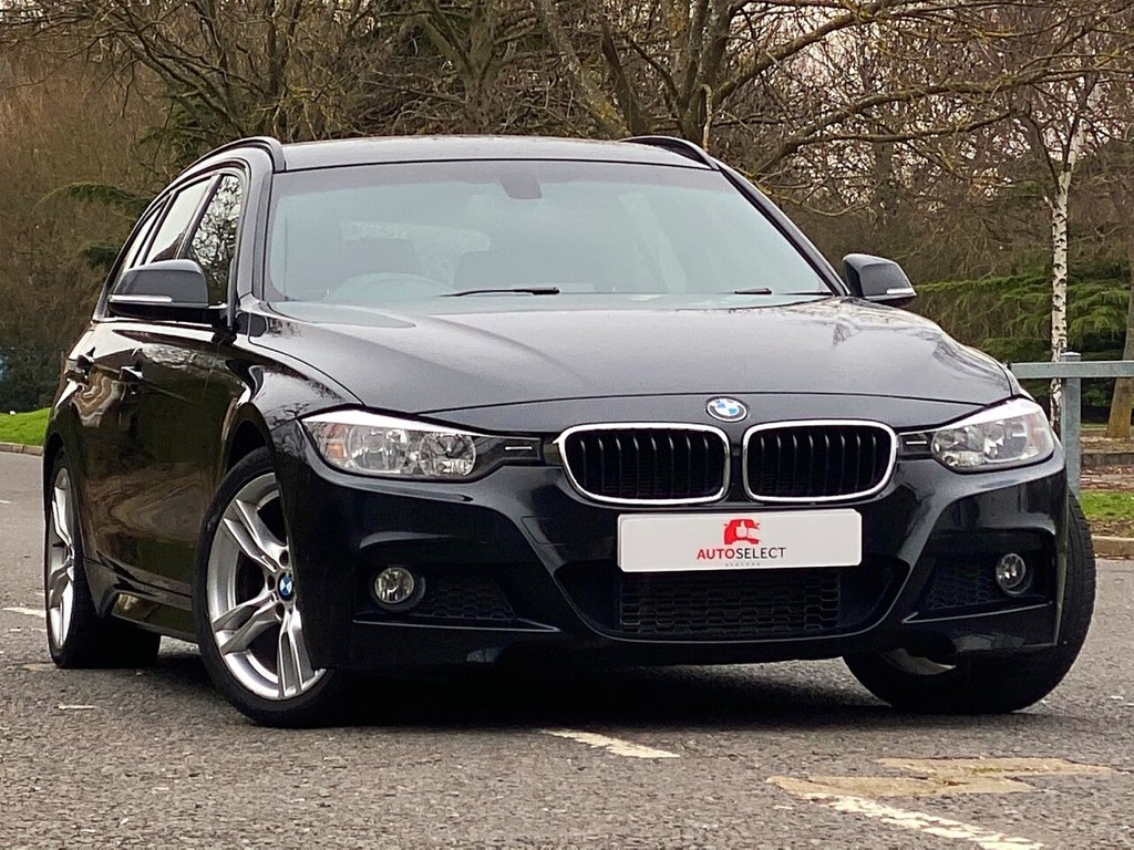 USED 2013 62 BMW 3 SERIES 2.0 320D M SPORT TOURING 5d 181 BHP 1 OWNER + LOW MILEAGE + RED LEATHER + HUGE SPEC + STUNNING CAR