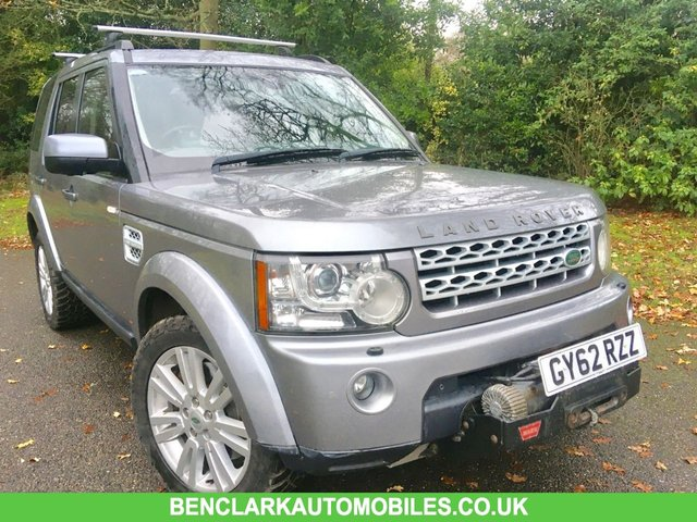 2012 62 LAND ROVER DISCOVERY VAN 3.0 4 SDV6 COMMERCIAL 5d AUTO 255 BHP FRONT BUMPER WINCH INCLUDED/SEAT COVERS/GOOD HISTORY FROM LOCAL GARAGE/TOWBAR/LEATHER/REVERSE CAMERA\HEATED SEATS&STEERING WHEEL\\\