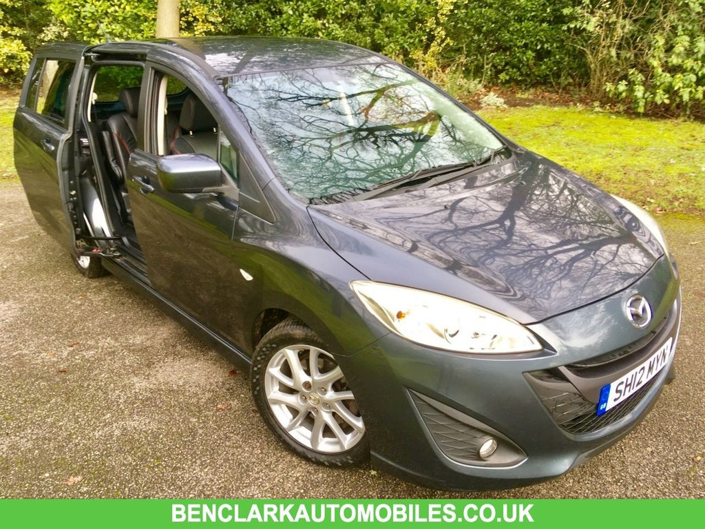 USED 2012 12 MAZDA MAZDA 5 2.0 SPORT 5d 148 BHP /7 FULL BLACK LEATHER SEATS/ ONLY 61,000 MILES/FULL MAZDA PRINTOUT SERVICE HISTORY GREAT CONDITION INSIDE AND OUT,,NEW TYRES AND BRAKES JUST DONE