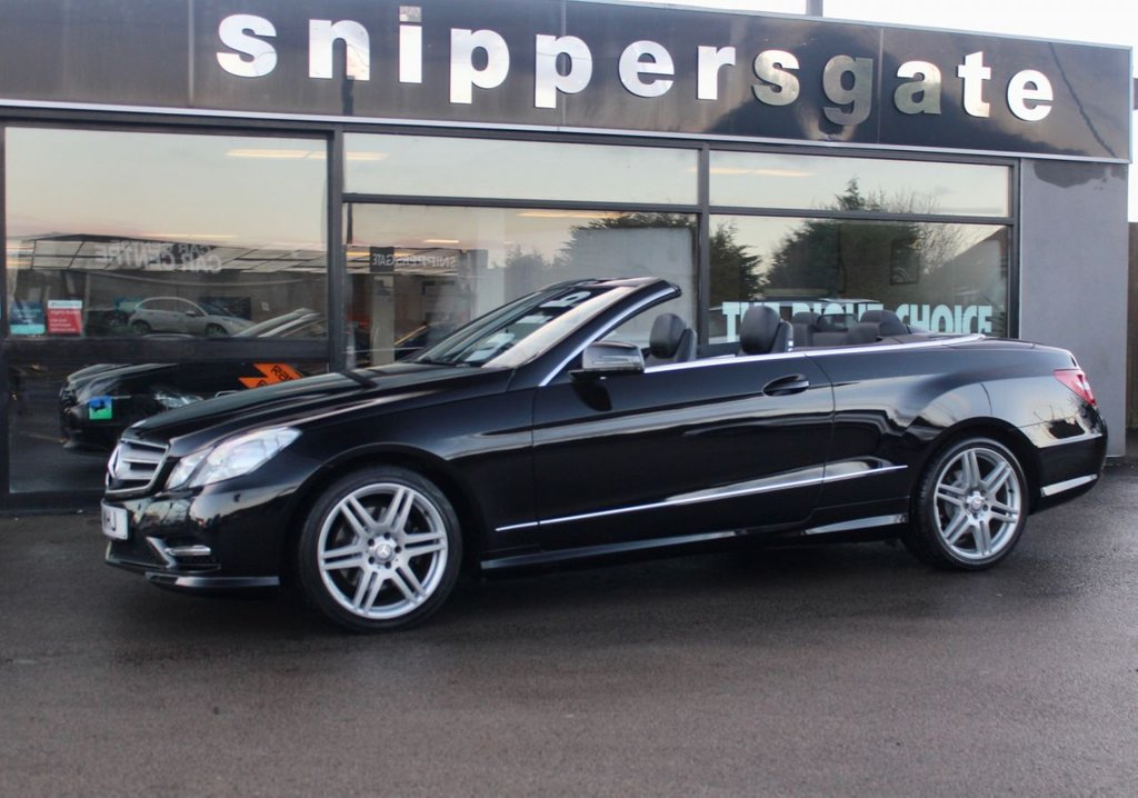 USED 2013 13 MERCEDES-BENZ E-CLASS 3.0 E350 CDI BLUEEFFICIENCY SPORT 2d 265 BHP Obsidian Black Metallic, Full Black Leather Interior, Airscarf, Command DVD With Navigation, Parking Guidance, LED DaytimeRunning Lights,  Cornering Illumination, AMG Sports Package, , Auto Dimming Mirrors, Sports Steering Wheel, Tyre Pressure Sensors, Headlamp Cleaning Equipment, Automatic High Beam Switch, AMG Styling Package, Premium line, Light Package, 2 Keys and Book Pack, Service History - 5 Services.