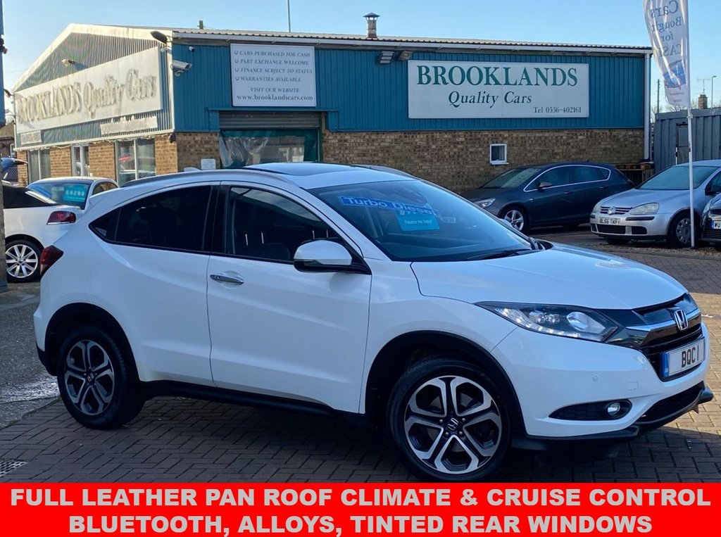 USED 2015 65 HONDA HR-V 1.6 I-DTEC EX 5 Door Orchid White Pearlescent118 BHP Full Leather Full Honda Service History Pan Roof Climate & Cruise Control Privacy Glass