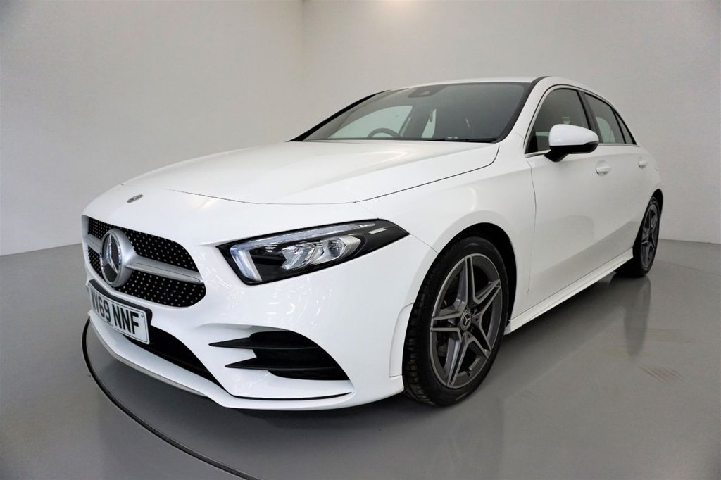 USED 2019 69 MERCEDES-BENZ A-CLASS 1.3 A 180 AMG LINE 5d-1 OWNER CAR-LOW MILEAGE, HALF LEATHER-18