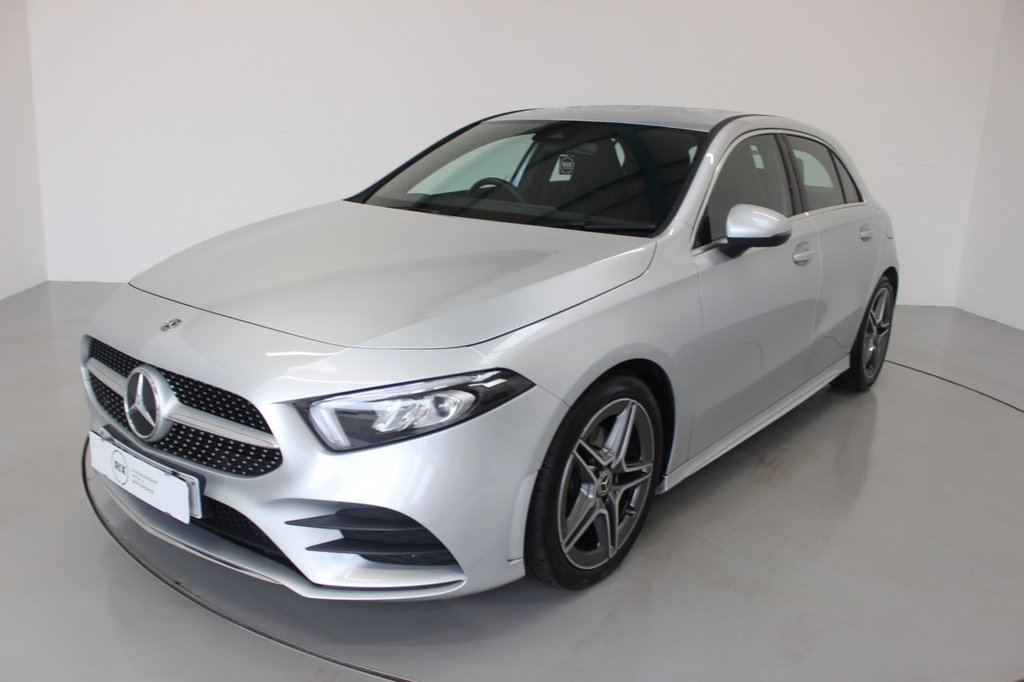 USED 2018 68 MERCEDES-BENZ A-CLASS 1.3 A 200 AMG LINE 5d AUTO-1 OWNER CAR-LOW MILEAGE, HALF LEATHER-18