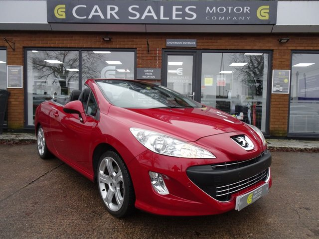 USED 2009 59 PEUGEOT 308 2.0 CC GT HDI 2d 140 BHP FORMER LADY OWNER, MOT TILL AUGUST 2021, COMPREHENSIVE SERVICE HISTORY - 9 SERVICES IN TOTAL, FULL LEATHER, HEATED SEATS, FRONT AND REAR PARKING SENSORS, SIX SPEED GEARBOX, HPI CLEAR