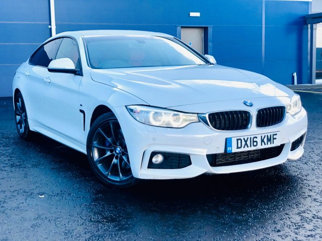 USED 2016 16 BMW 4 SERIES 2.0 420D M SPORT GRAN COUPE 4d 188 BHP ONE OWNER FULL RED LEATHER MOTORWAR MILES