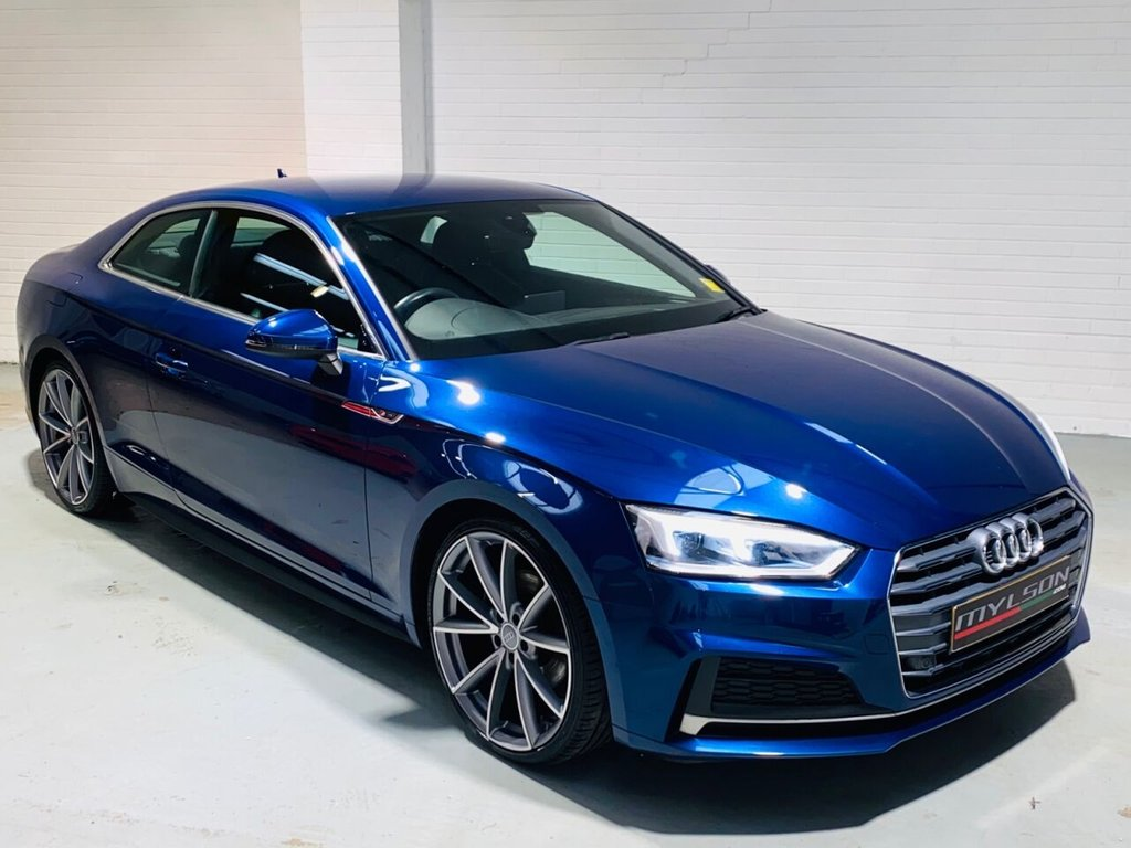 USED 2017 17 AUDI A5 2.0 TFSI S LINE 2d 188 BHP Scuba Blue, 20in RS Style Wheels, LED Headlights