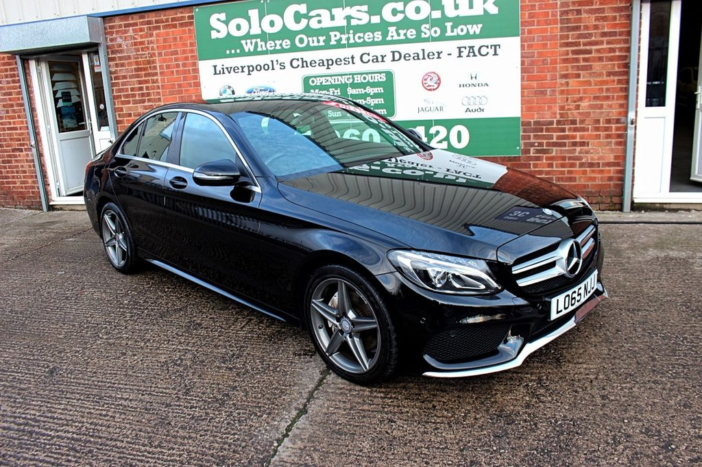 USED 2015 MERCEDES-BENZ C-CLASS C220d AMG Line 4dr Auto +AUTO +CAMERA +LEATHER +NAV.