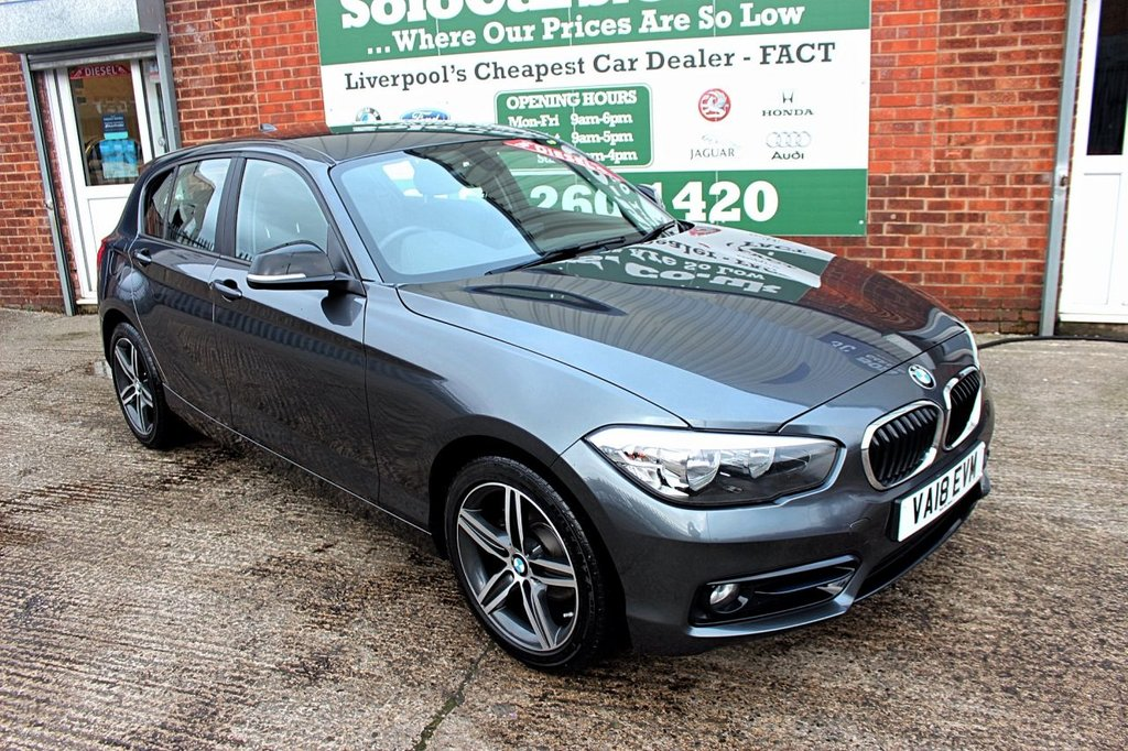 USED 2018 18 BMW 1 SERIES 1.5 116D SPORT 5d AUTO 114 BHP +ONE OWNER +SAT NAV +DAB.