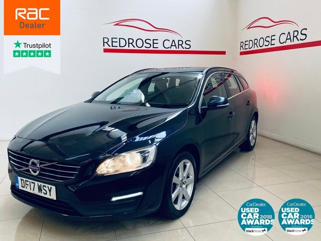 USED 2017 17 VOLVO V60 2.0 D4 SE NAV 5d 188 BHP FULL SRVC, 1 OWNER, 2 KEYS