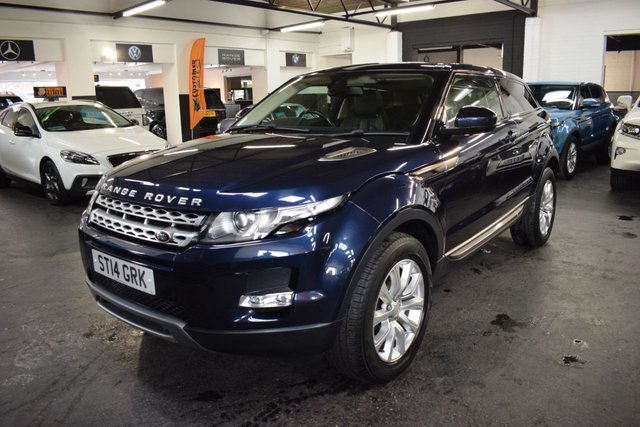 USED 2014 14 LAND ROVER RANGE ROVER EVOQUE 2.2 SD4 PURE TECH 3d 190 BHP 4X4  LOVELY CONDITION - 190BHP - 4X4 - 5 LANDROVER SERVICE STAMPS TO 62K - LEATHER - NAV - GLASS PANROOF - HEATED SEATS - MERIDIEN SPEAKERS