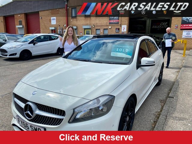 2016 66 MERCEDES-BENZ A-CLASS 1.5 A 180 D AMG LINE EXECUTIVE 5d 107 BHP PAN ROOF SOLD TO RACHEL  FROM MANSFIELD
