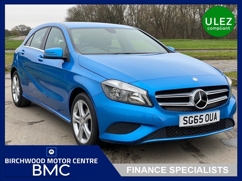 USED 2015 65 MERCEDES-BENZ A-CLASS 1.5 A180 CDI SPORT EDITION 5d 107 BHP ULEZ, £20.00 Road Tax, JUST 47,000m, SUPER EXAMPLE, FULL LEATHER, REVERSE CAMERA, BLUETOOTH, CRUISE CONTROL, 6-SPEED, 17