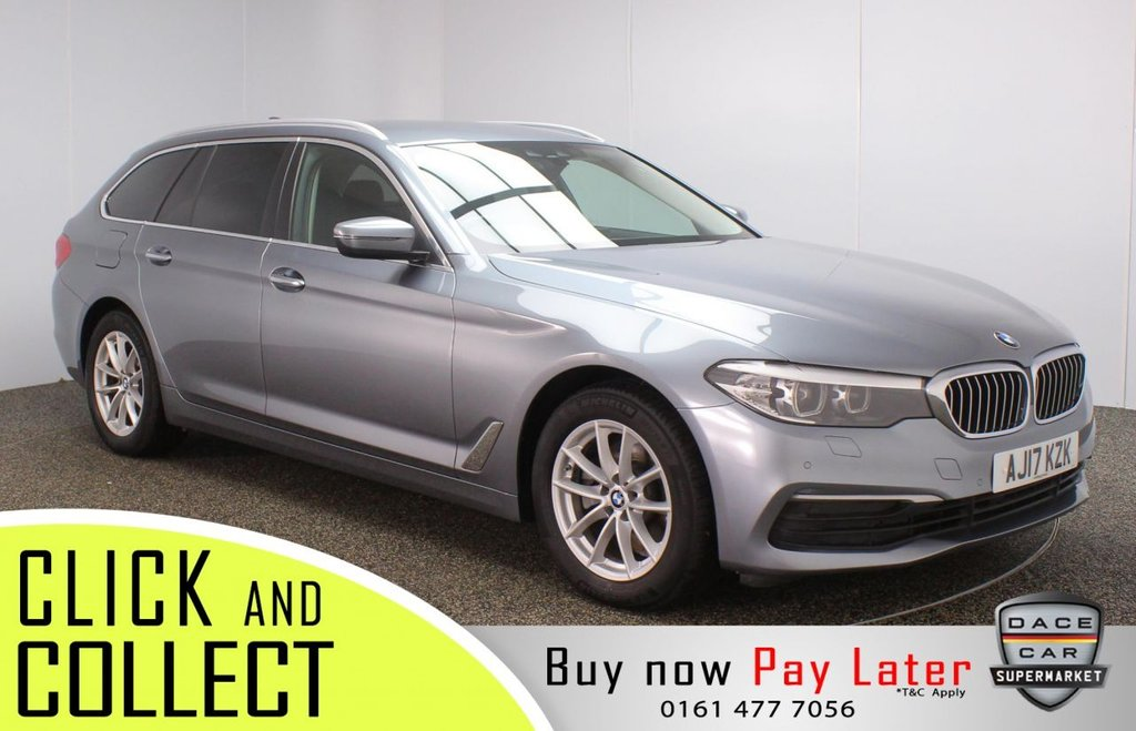 USED 2017 17 BMW 5 SERIES 2.0 520D SE TOURING 5DR 1 OWNER AUTO 188 BHP + PRO NAV + FULL HISORY FULL BMW SERVICE HISTORY + HEATED LEATHER SEATS + SATELLITE NAVIGATION PROFESSIONAL + PARKING SENSOR + BLUETOOTH + CRUISE CONTROL + CLIMATE CONTROL + MULTI FUNCTION WHEEL + XENON HEADLIGHTS + PRIVACY GLASS + ELECTRIC FRONT SEATS + DAB RADIO + AUX/USB PORTS + ELECTRIC WINDOWS + ELECTRIC DOOR MIRRORS + 17 INCH ALLOY WHEELS