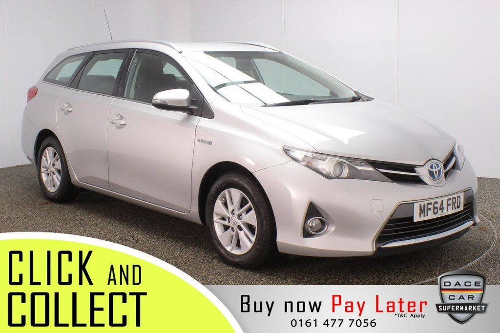USED 2014 64 TOYOTA AURIS 1.8 VVT-I ICON 5DR 1 OWNER AUTO 98 BHP SERVICE HISTORY + FREE 12 MONTHS ROAD TAX + REVERSING CAMERA + BLUETOOTH + CLIMATE CONTROL + MULTI FUNCTION WHEEL + XENON HEADLIGHTS + DAB RADIO + AUX/USB PORTS + ELECTRIC WINDOWS + ELECTRIC MIRRORS + 17 INCH ALLOY WHEELS