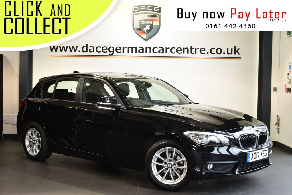 USED 2017 17 BMW 1 SERIES 1.5 118I SE 5DR 134 BHP Finished in a stunning black styled with alloy wheels. Upon entry you are presented with anthracite upholstery, satellite navigation, bluetooth, dab radio, multi function steering wheel, AUX/USB media, teleservices, real time traffic updates