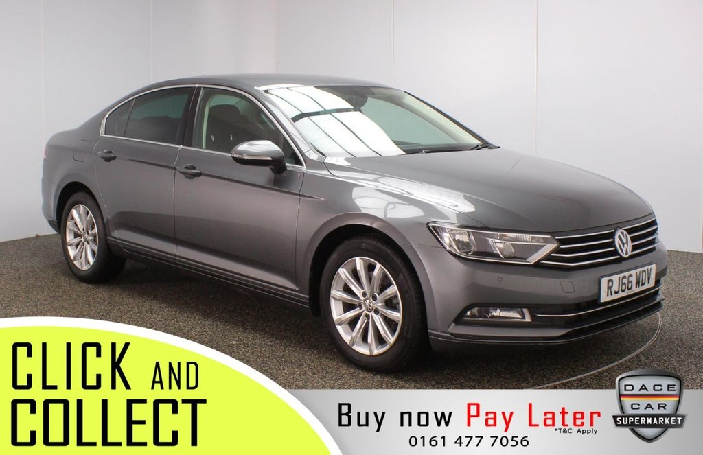 USED 2016 66 VOLKSWAGEN PASSAT 1.6 SE BUSINESS TDI BLUEMOTION TECH DSG 4DR 1 OWNER AUTO 119 BHP FULL SERVICE HISTORY + £20 12 MONTHS ROAD TAX + PARKING SENSOR + BLUETOOTH + CRUISE CONTROL + AIR CONDITIONING + MULTI FUNCTION WHEEL + DAB RADIO + AUX/USB/SD PORTS + ELECTRIC WINDOWS + ELECTRIC/HEATED/FOLDING DOOR MIRRORS + 17 INCH ALLOY WHEELS