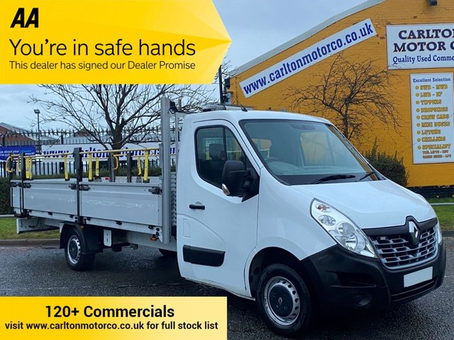2015 65 RENAULT MASTER 2.3 LL35 DCI 125 XL BUSINESS ( 16.5ft) DROPSIDE LIGHT ALLOY BODY FWD