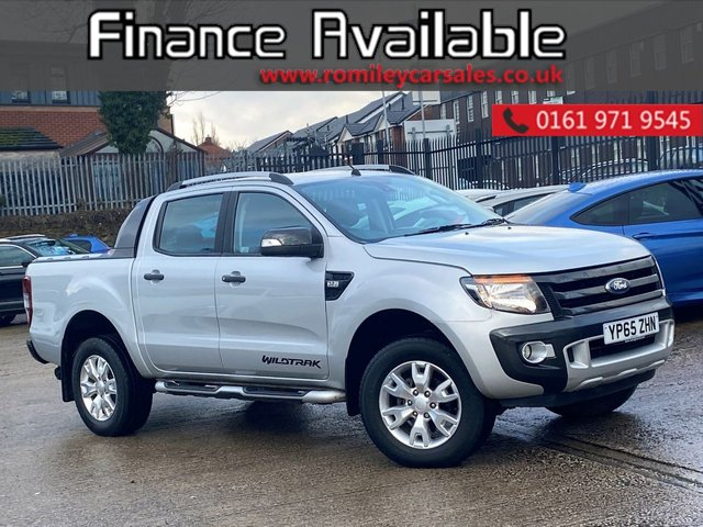 USED 2015 65 FORD RANGER 3.2 WILDTRAK 4X4 DCB TDCI 4d 197 BHP FULL SERVICE RECORD - SAT NAV - BLUETOOTH - FULL HEATED LEATHER INTERIOR
