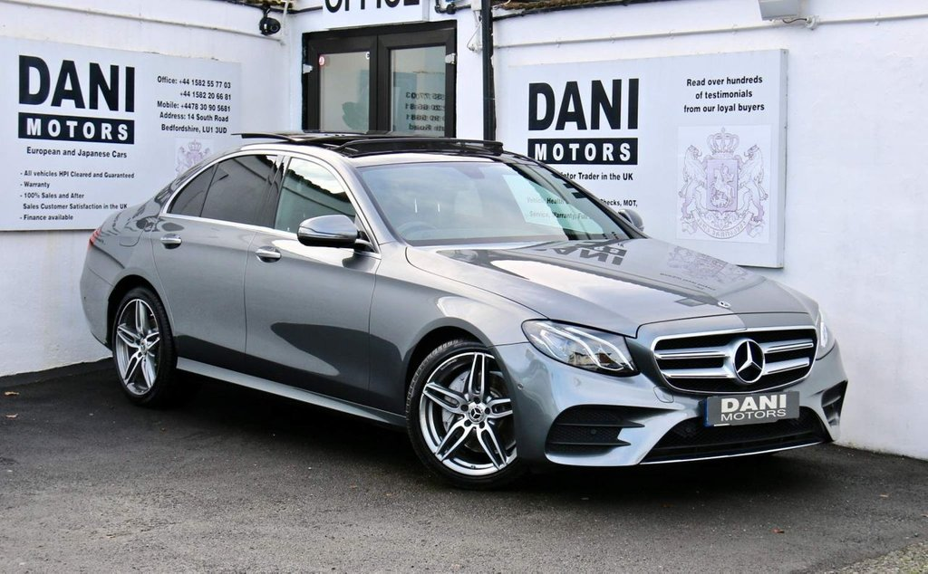 USED 2018 68 MERCEDES-BENZ E-CLASS 2.0 E220d AMG Line (Premium Plus) G-Tronic+ (s/s) 4dr PAN ROOF*SATNAV*REV CAMERA