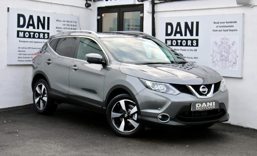 USED 2017 17 NISSAN QASHQAI 1.2 DIG-T Tekna Xtronic CVT 5dr (Glass Roof, 17' Alloys) 1 OWNER*SATNAV*PARKING AID