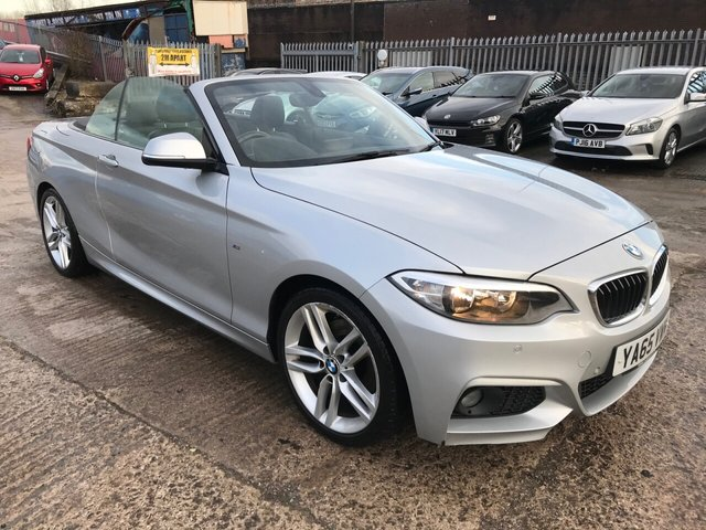 "USED 2016 65 BMW 2 SERIES 2.0 220D M SPORT 2d 188 BHP 2 KEYS+£30 ROAD TAX+CLIMATE+LEATHER TRIM+PARKING SENSORS+MEDIA+PRIVACY GLASS+NAVIGATION SYSTEM+18""ALLOY WHEELS+BLUETOOTH+USB+AUX+DAB+ELECTRICS+"