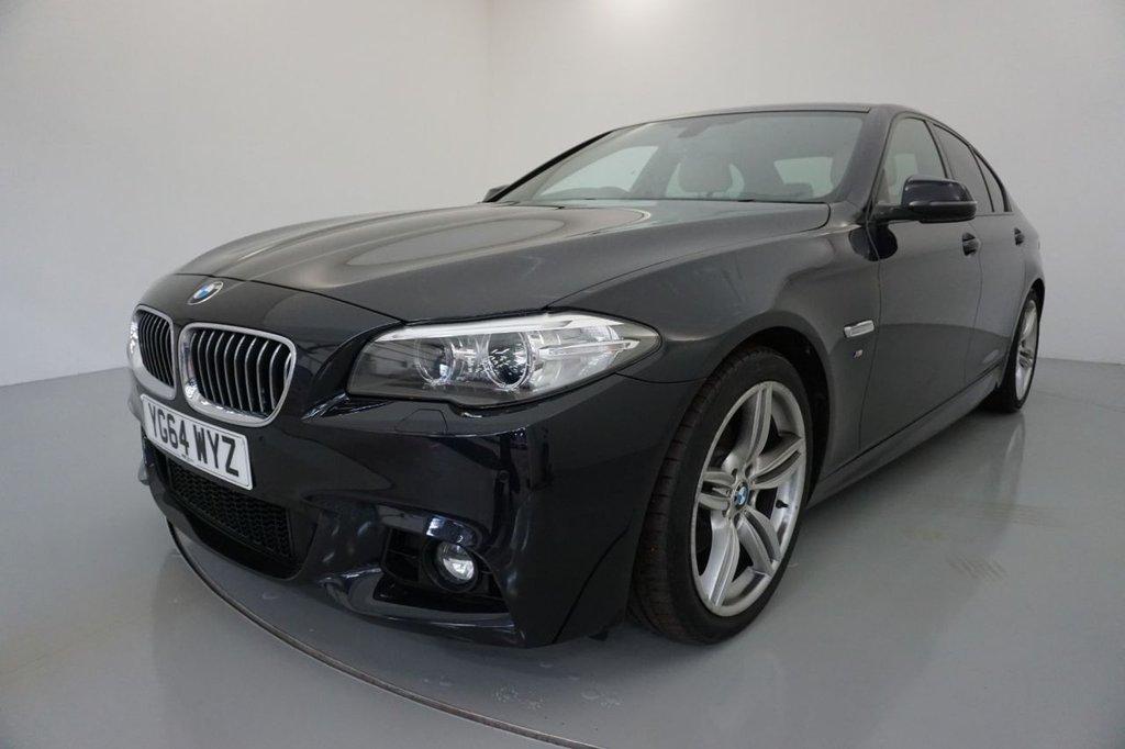 USED 2014 64 BMW 5 SERIES 2.0 520D M SPORT 4d-2 OWNER CAR-HEATED OYSTER DAKOTA LEATHER-HARMAN KARDON SOUND SYSTEM-BLUETOOTH-CRUISE CONTROL-PROFESSIONAL NAVIGATION-PARKING SENSORS-CLIMATE CONTROL