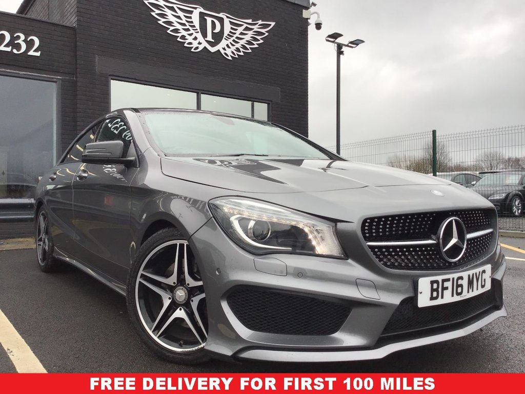 USED 2016 16 MERCEDES-BENZ CLA 2.1 CLA 220 D AMG LINE 4d 174 BHP FINANCE RATES FROM 5.9%  *FULL VALET, MOT, SERVICE AND WARRANTY INC - 7 DAYS MONEY BACK GUARANTEE - FREE DELIVERY*