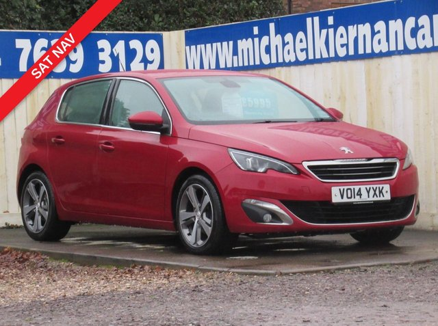 USED 2014 14 PEUGEOT 308 1.6 E-HDI ALLURE 5d 114 BHP NICE CLEAN CAR THROUGHOUT