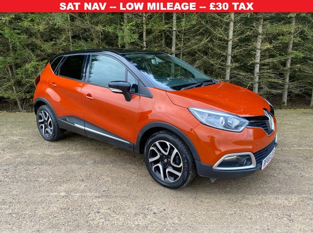 USED 2015 65 RENAULT CAPTUR 0.9 DYNAMIQUE S NAV TCE 5d 90 BHP SAT NAV -- LOW MILEAGE -- GREAT HISTORY