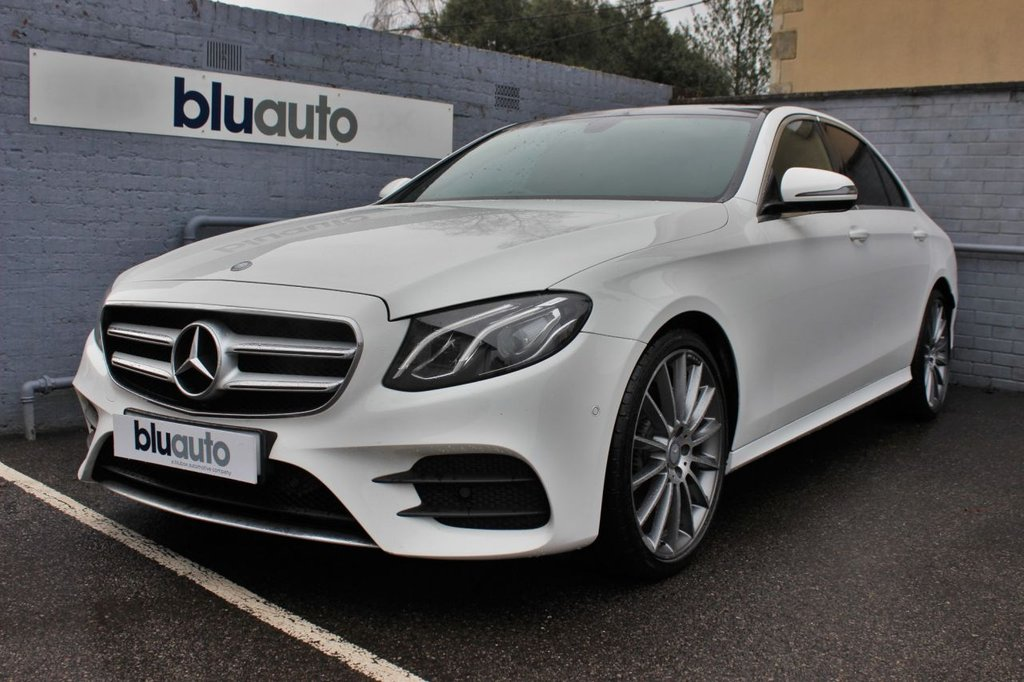 """USED 2016 66 MERCEDES-BENZ E-CLASS 2.0 E 220 D AMG LINE 4d 192 BHP Mercedes Servicing, Park Assist, Reversing Camera with Sensors, 20"""" Upgraded Alloys, Heated Seats, Satellite Navigation"""