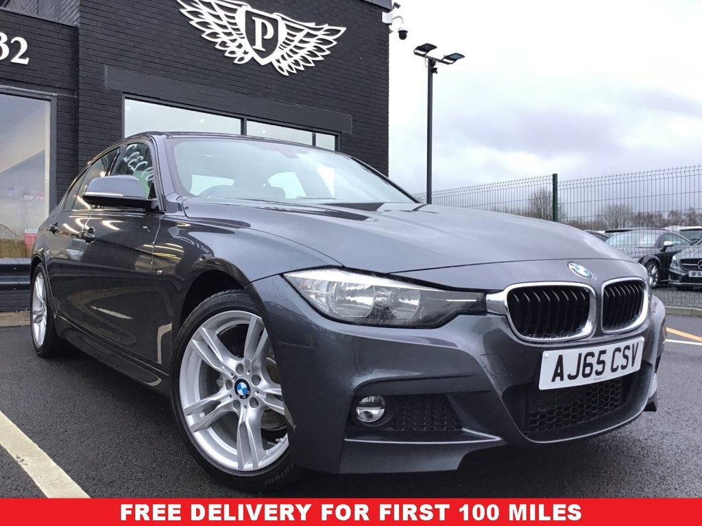 USED 2015 65 BMW 3 SERIES 2.0 320I M SPORT 4d 181 BHP *FULL VALET, MOT, SERVICE AND WARRANTY INC - 7 DAYS MONEY BACK GUARARNTEE - FREE DELIVERY - FINANCE RATES FROM 5.9%*