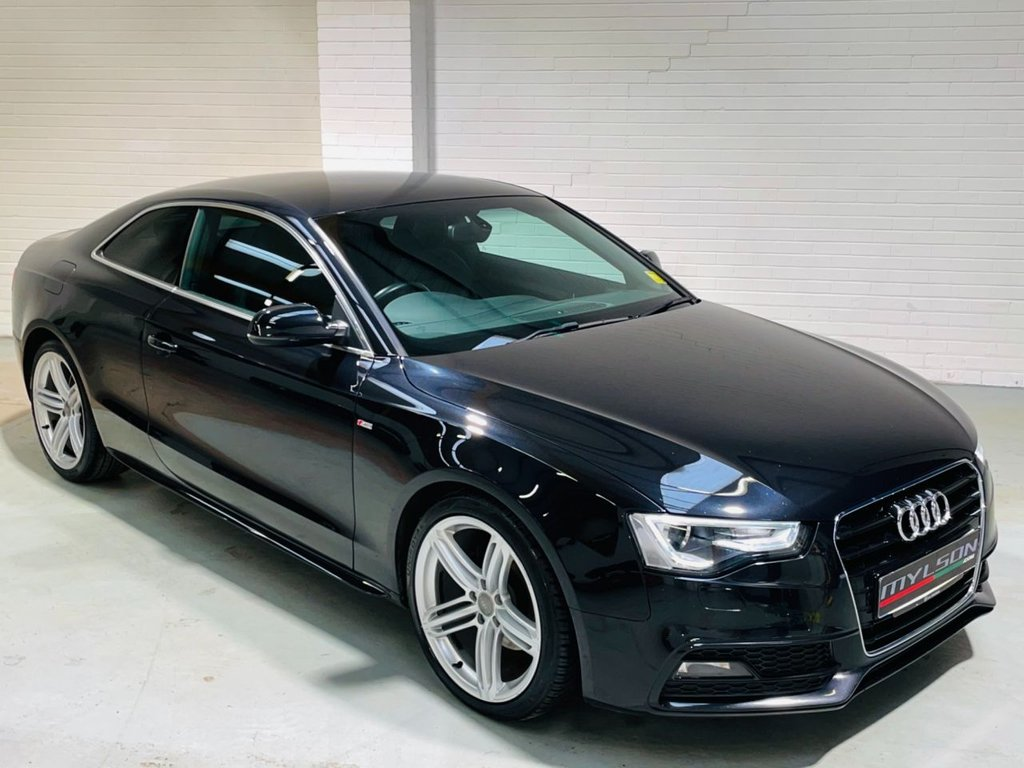 USED 2013 63 AUDI A5 2.0 TDI S LINE S/S 2d 177 BHP Black with Black Interior, 19 Inch Wheels, Privacy Glass