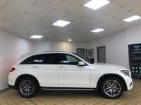 USED 2018 18 MERCEDES-BENZ GLC-CLASS 2.0 GLC 250 4MATIC AMG LINE PREMIUM PLUS 5d Very Rare Petrol Family SUV AUTO Absolutely Stunning in White Massive High Spec Price of £30,000 includes Warranty until July 2023  Ready to Finance and Drive Away TRULY INCREDIBLE FAMILY SUV WITH LUXURY INCORPORATED AT EVERY OPPORTUNITY!