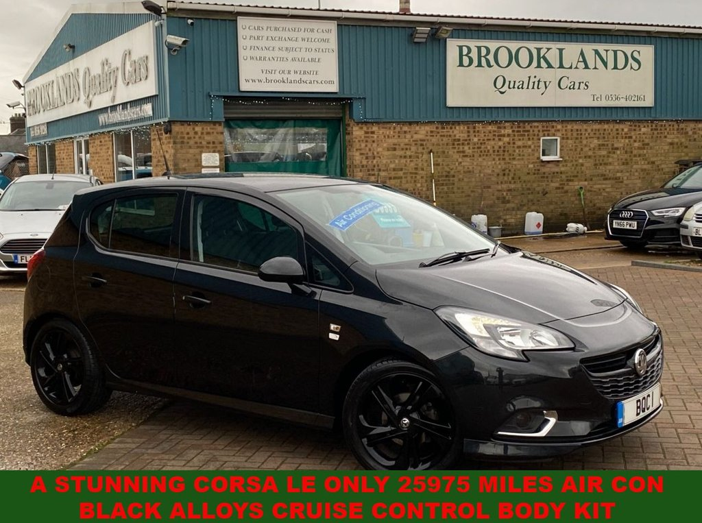 USED 2015 65 VAUXHALL CORSA 1.4 LIMITED EDITION 5 Door Carbon Flash 89 BHP A Stunning Corsa LE ONLY 25975 Miles Air Con Black Alloys Cruise Control Body Kit