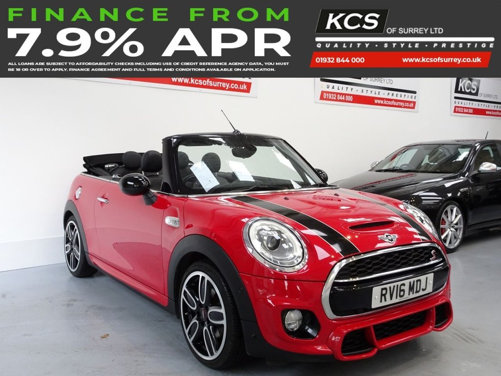 USED 2016 16 MINI CONVERTIBLE 2.0 COOPER S 2d 189 BHP JCW CHILI PACK-MEDIA XL NAV